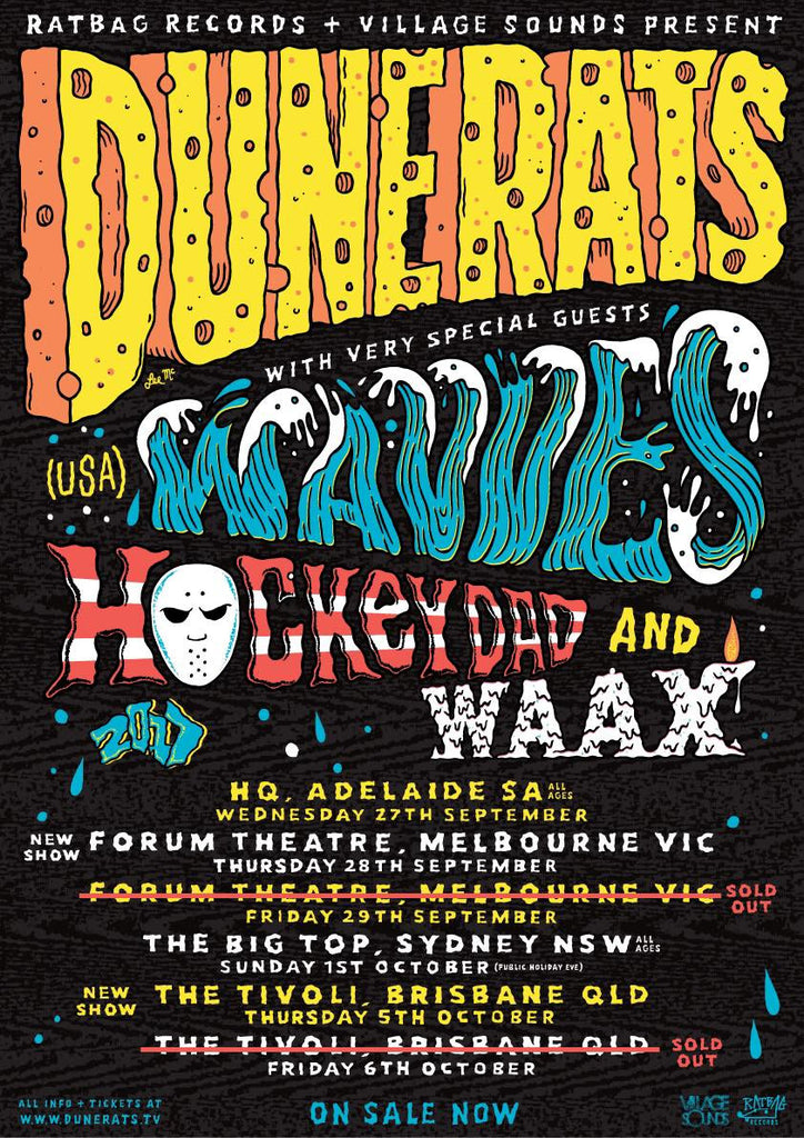 HOCKEY DAD announce shows with Dune Rats, WAAVES & WAAX