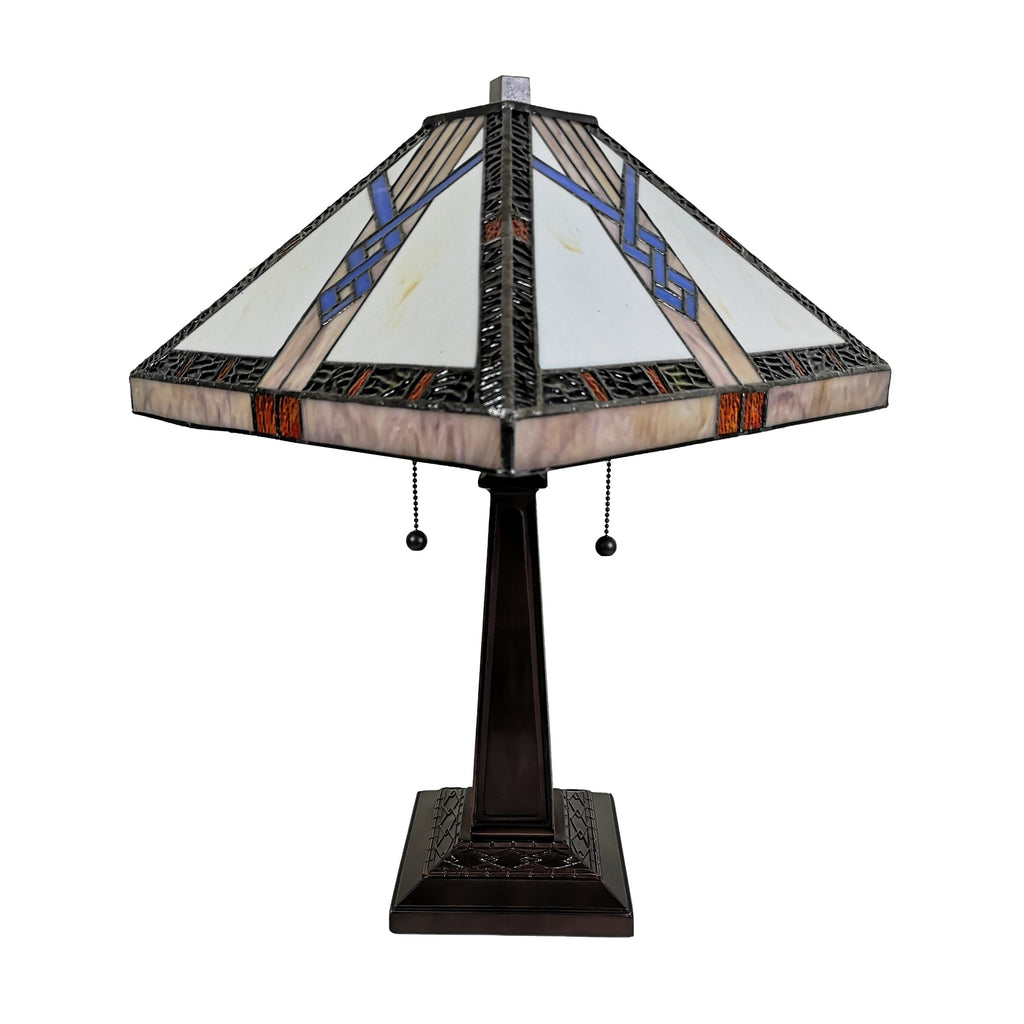 23 Tiffany Style Bold Mission Table Lamp Stained Glassery