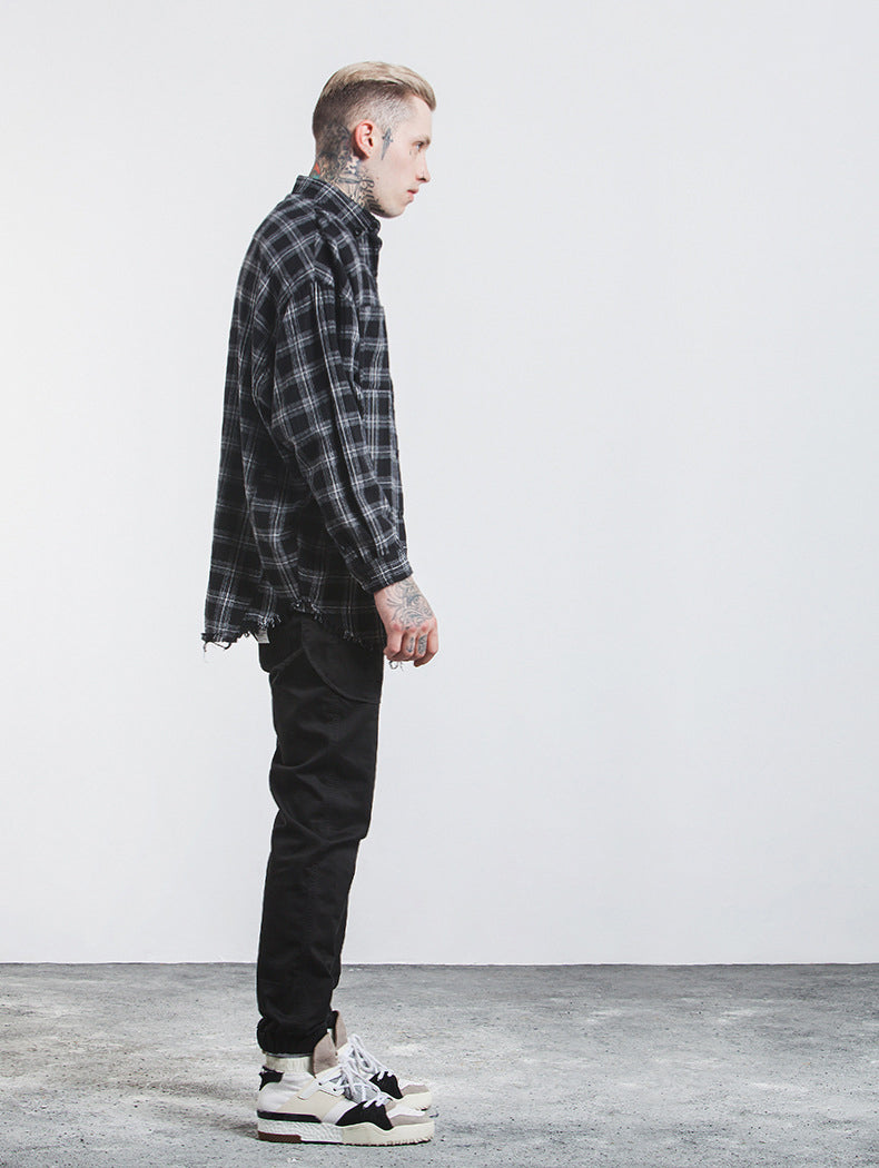 'F1' Distressed Hem Shirt