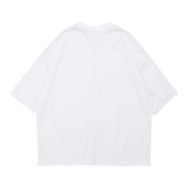 'Untitled' Mesh Tee In White