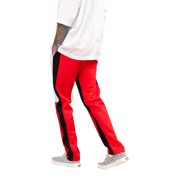 'Racer' track pants in white
