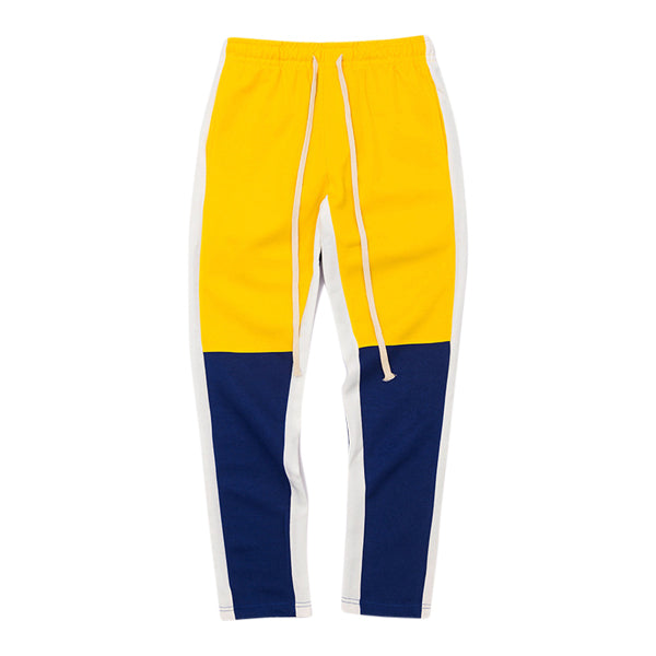 'Racer' track pants in yellow