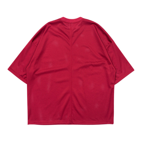 'Untitled' Mesh Tee In Red
