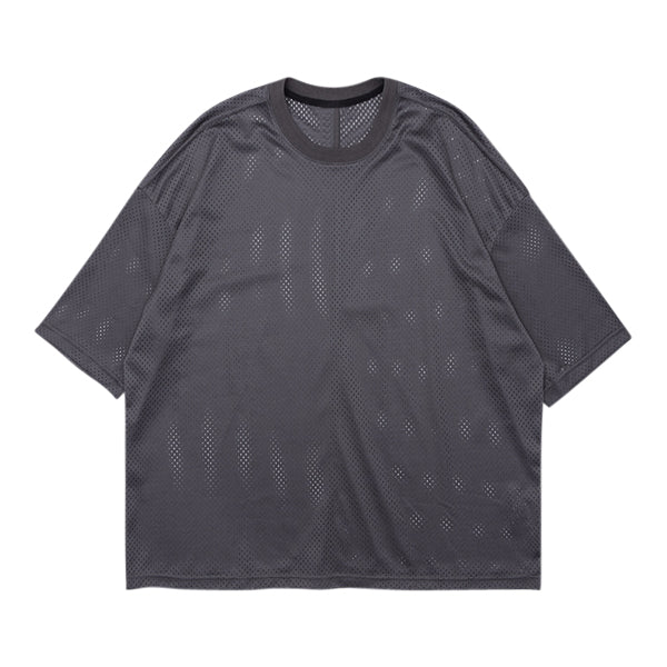 'Untitled' Mesh Tee In Ash
