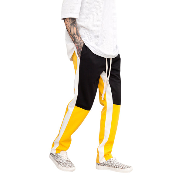 'Racer' track pants in black