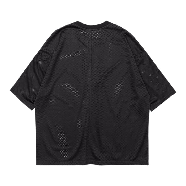 'Untitled' Mesh Tee In Black