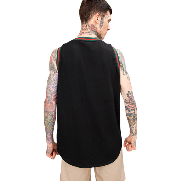 'Racer' Tank In Black