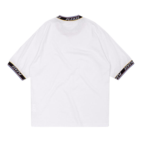 'Please' Tee in white