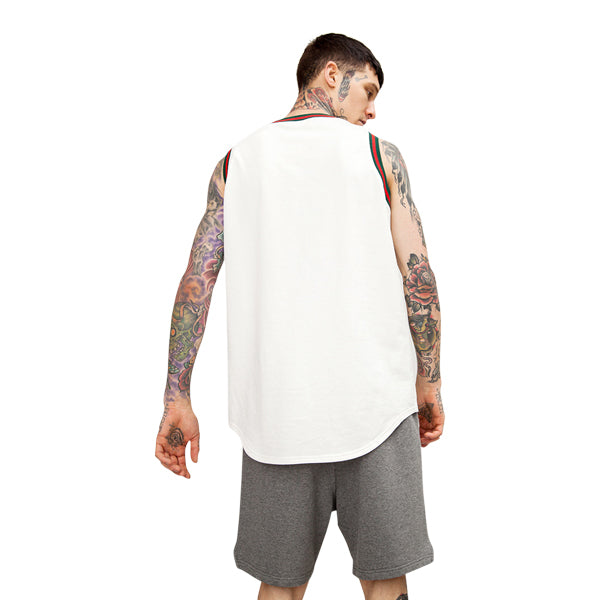 'Racer' Tank In White