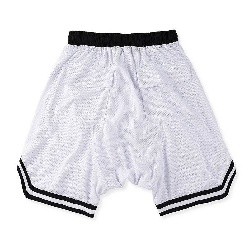 Mesh Gym Shorts In White