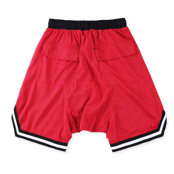 Mesh Gym Shorts In Red
