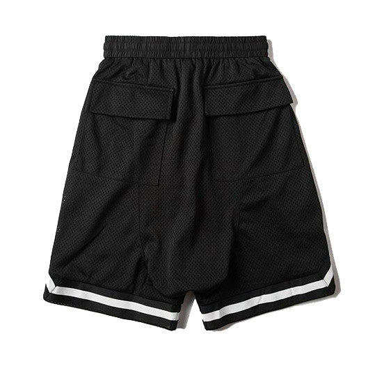 Mesh Gym Shorts In Black