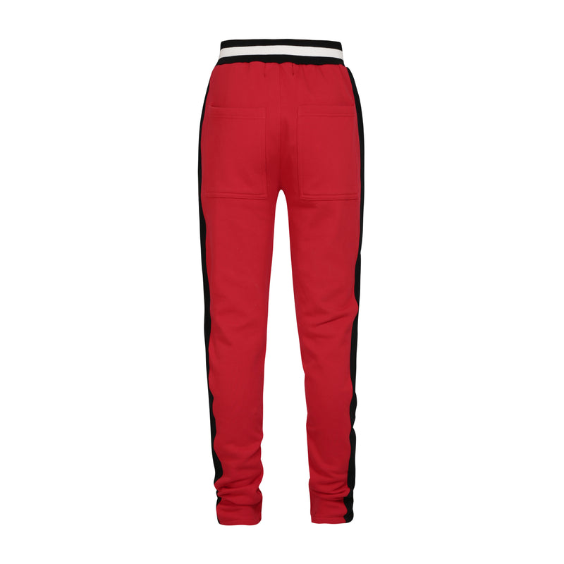 Drawstring Track Pants In Red
