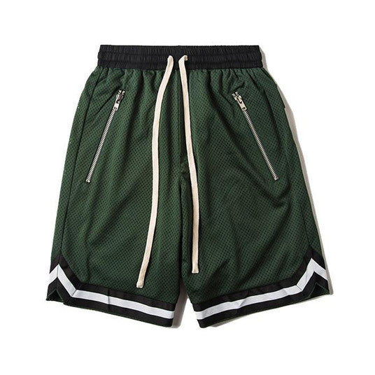 Mesh Gym Shorts In Green
