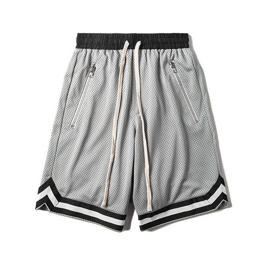 Mesh Gym Shorts In Grey