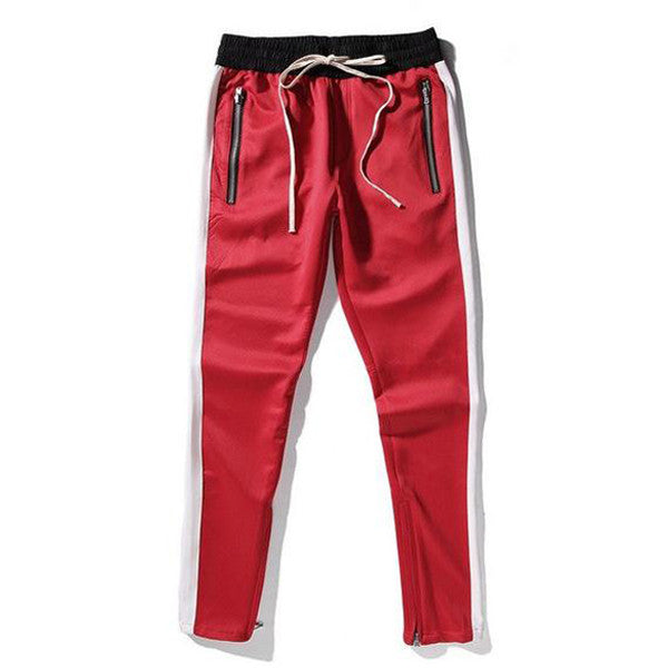 Drawstring Jogger Pants In Red