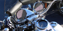 Motorcycle Speakers on a Harley-Davidson Road King Motorcycle