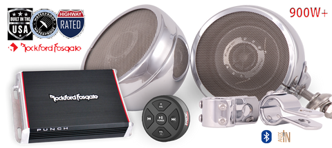 900W Loudspeaker Packs for Cruiser Motorcycles