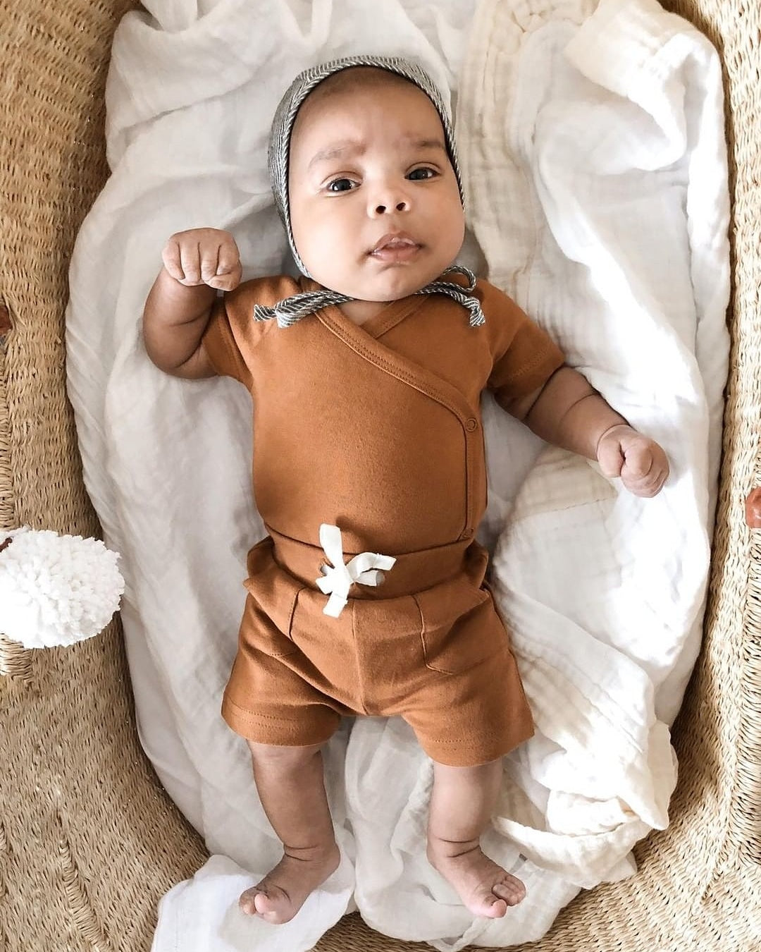 organic baby shorts w/ pockets | ginger