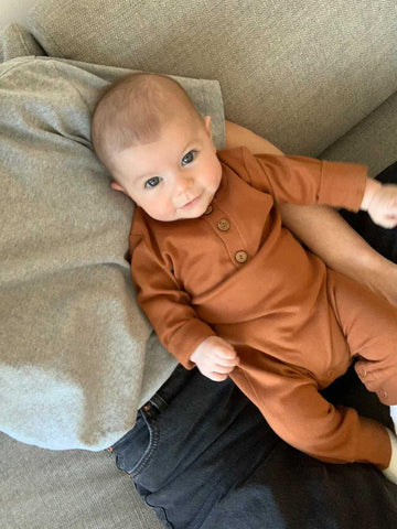 Organic Coverall Romper | Ginger