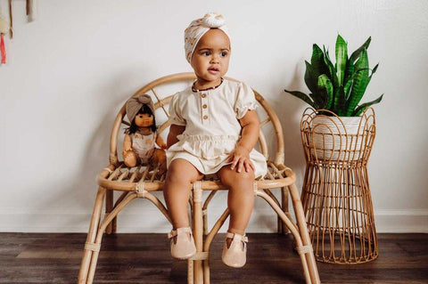 Organic Skirted Bodysuit | Shell