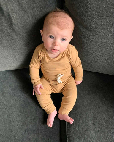 Organic Everyday SS Bodysuit | Wheat