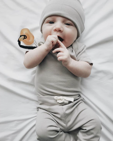 Organic Baby Pants | Wheat