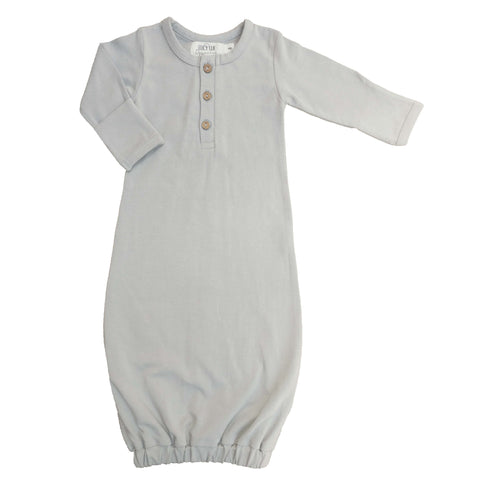 organic baby gown | stone grey