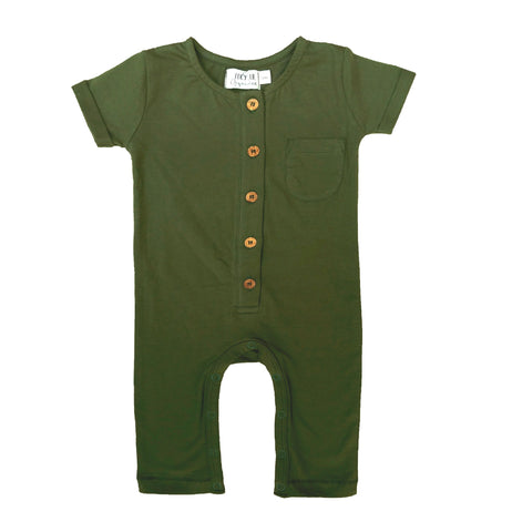 Baby romper overalls by Lucy Lue Organics. Organic cotton baby clothes, Monica and Andy, eco friendly baby clothes, organic newborn clothes, organic baby basics, organic baby layette, l'oved baby, modern organic baby clothes, organic baby boy clothes, organic baby girl clothes