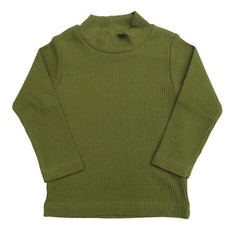 organic cowl neck top | fern green