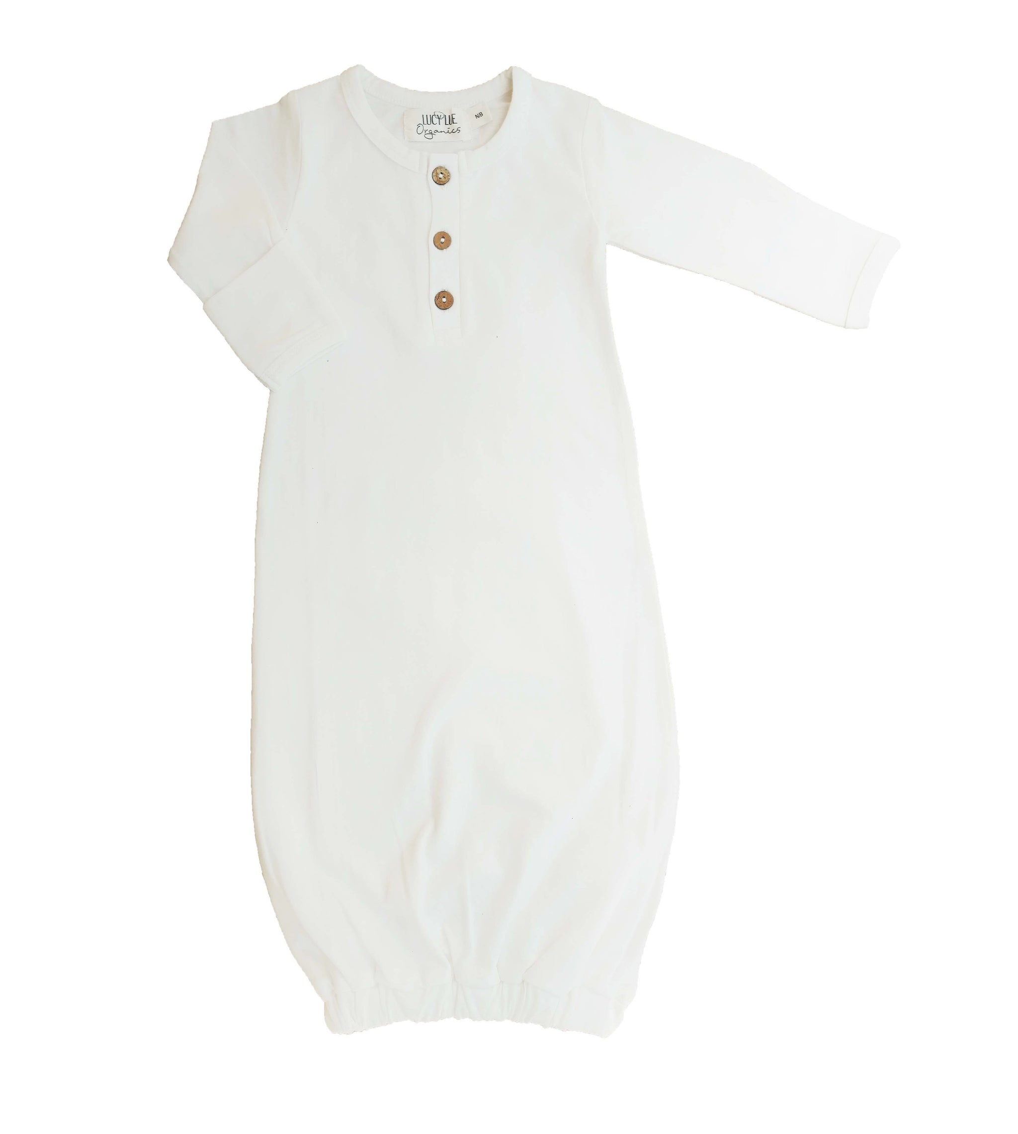 FINAL SALE!! OOPS BABY GOWN - IVORY – LUCY LUE ORGANICS
