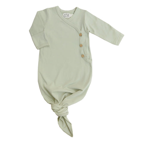 Lucy Lue Organics. Coming home outfit. Organic baby clothes. Organic baby clothing. Newborn clothes. Soft baby clothes. Kimono knotted gown. knotted baby gown. newborn knotted gown. Newborn bundle. Organic cotton knotted baby gown. Monica and Andy, eco-friendly baby clothes, organic newborn clothes, organic baby basics, organic baby layette, l'oved baby, baby knotted gowns, baby knotted gown, knotted baby gown, baby onesie, organic baby girl clothes, baby gown, baby sleeper, organic baby gown