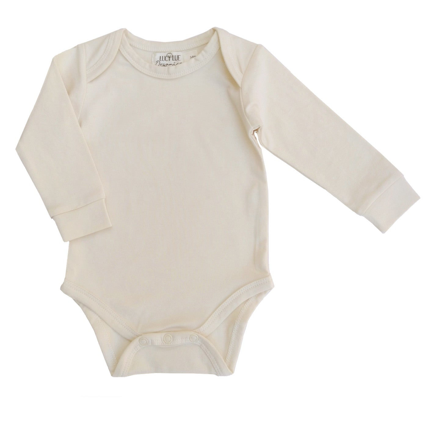 Lucy Lue Organics long sleeve baby bodysuit. Organic newborn clothes. Baby clothing. Gender neutral newborn clothes. Baby romper. Organic baby bodysuits. modern organic baby clothes. newborn clothes. sustainable baby clothes. Soft baby clothes. solid color baby clothes