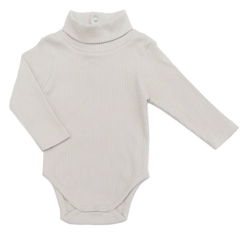 Organic high-neck long sleeve kimono bodysuit by Lucy Lue Organics. If you are looking for organic baby clothes, Lucy Lue Organics is the best baby brand
