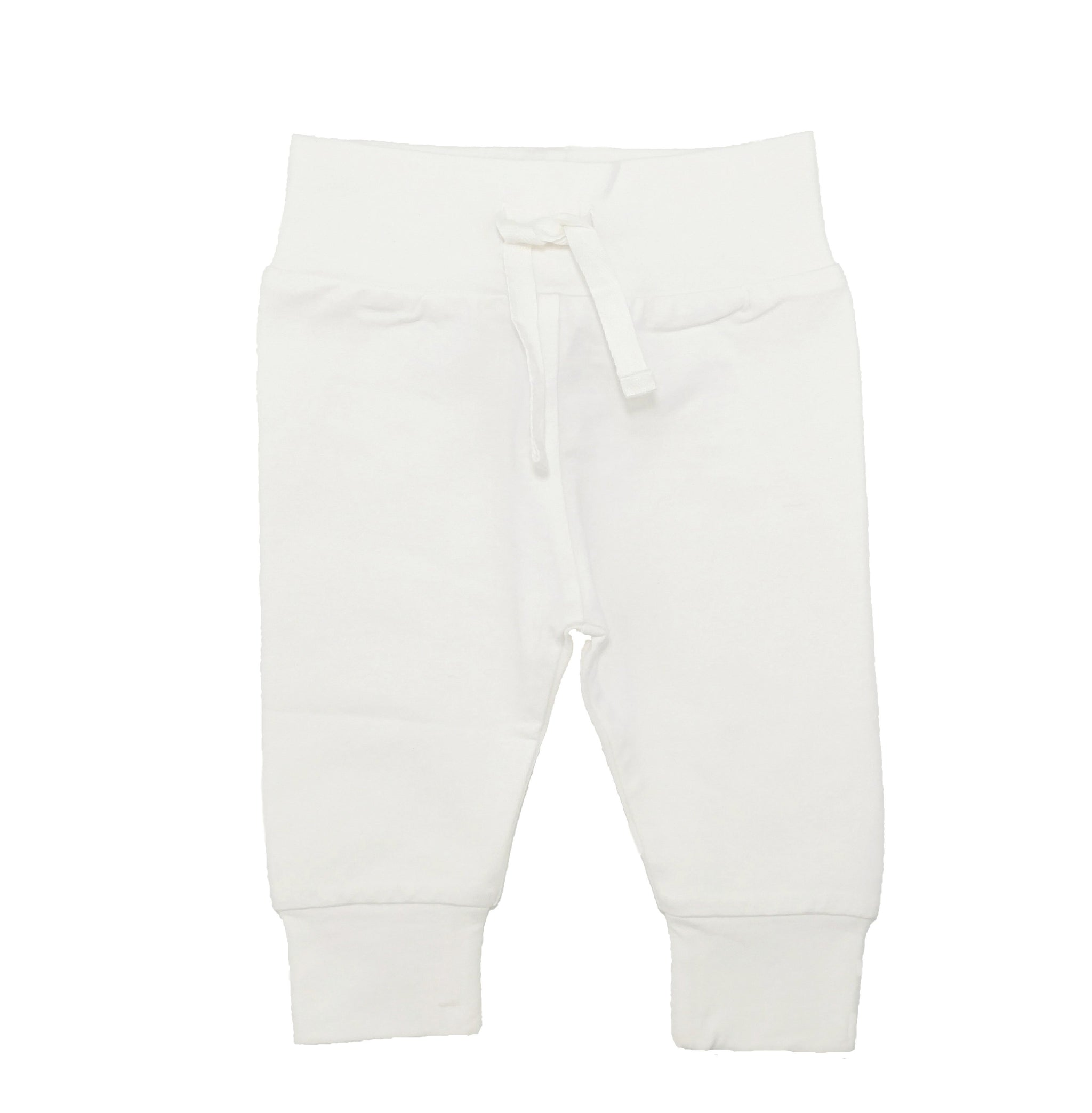 Best selling organic baby leggings in the softest organic cotton fabric. Made by Lucy Lue Organics.  Popular gender neutral ivory color. Baby list must-have. Newborn take home outfit