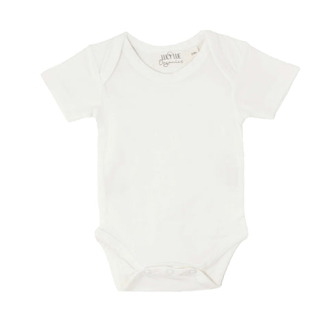 Best selling extra soft organic cotton baby bodysuit onesie romper in popular unisex gray color. Lap neck style with 3 snaps for easy changing. Made by Lucy Lue Organics. Lucy Lue Organics. Organic baby clothes, organic toddler clothes, organic cotton, toxin free clothing, eco friendly fabrics, eco-fashions, baby clothes, modern organic baby clothes, baby boy clothes, baby girl clothes, gender neutral baby clothes. Baby basics. Baby must haves. Baby clothing. Baby gifts. Baby shower ideas