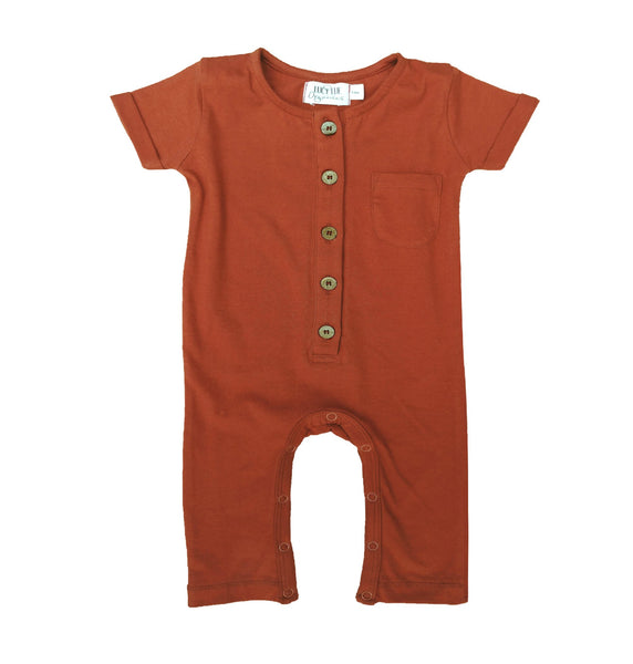 Baby romper overalls by Lucy Lue Organics. Organic baby clothes, organic toddler clothes, organic cotton, organic baby, eco friendly clothing, fair trade clothing, baby clothes, modern organic baby clothes, baby boy clothes, baby girl clothes, unisex baby clothes. Summer baby styles.