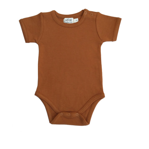 Organic Shoulder Snap Bodysuit | Ginger