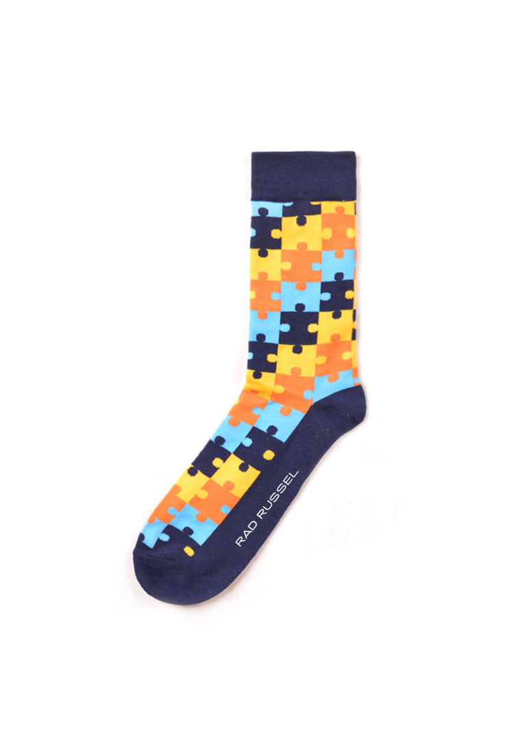 Rad Russel Men Patterned Socks-14304