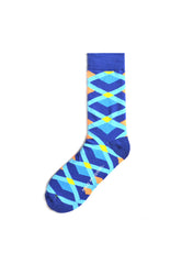 Rad Russel Men Patterned Socks-15602