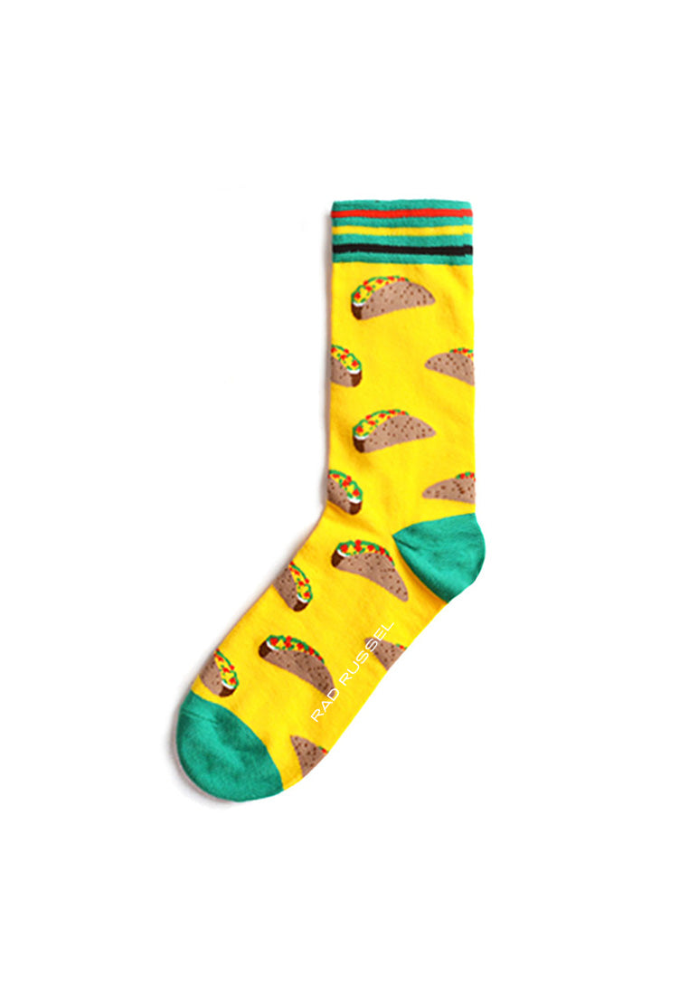 Rad Russel Men Patterned Socks-15808