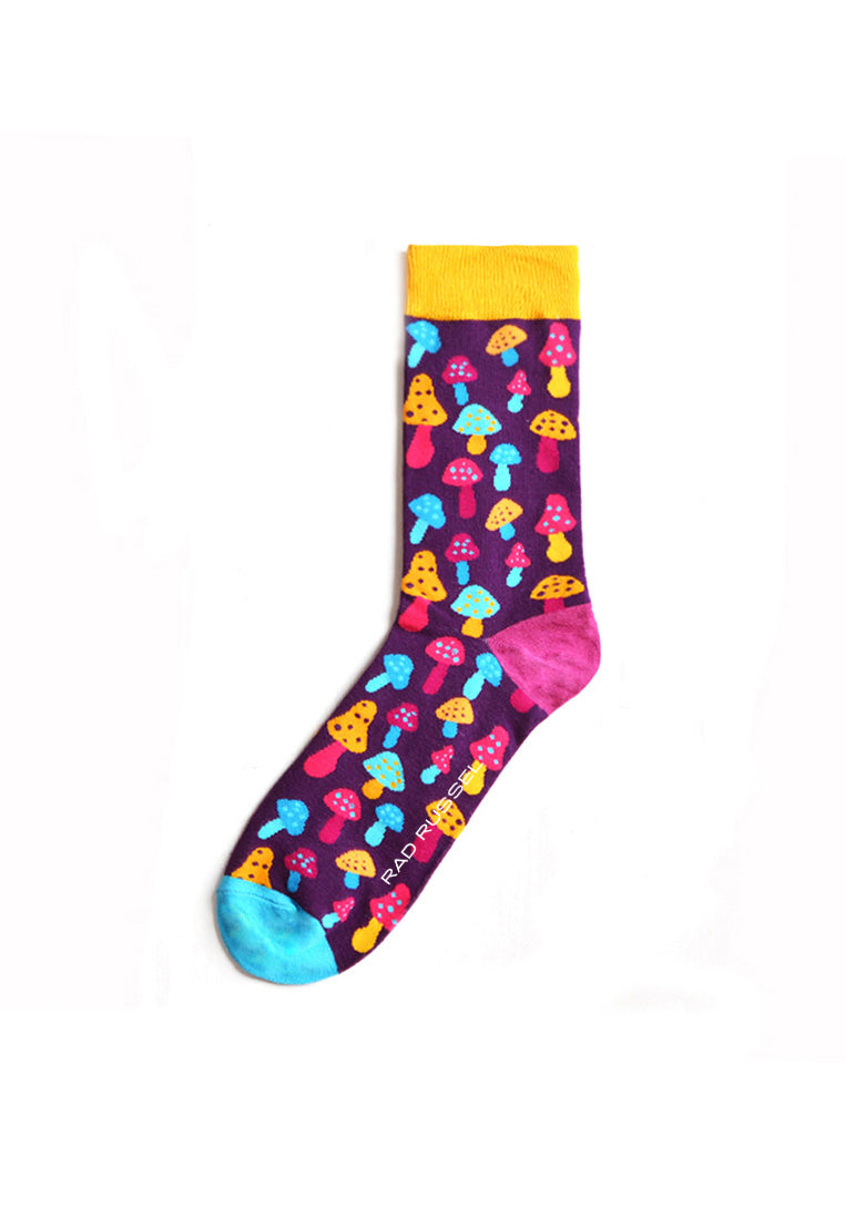 Rad Russel Men Patterned Socks-15812