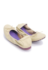 Soft Ribbon Flats - Beige