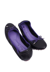 Soft Ribbon Flats - Black Purple