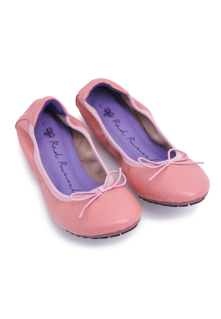 Soft Ribbon Flats - Light Pink