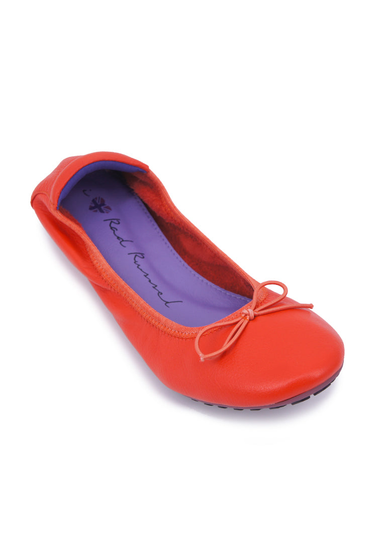 Soft Ribbon Flats - Orange