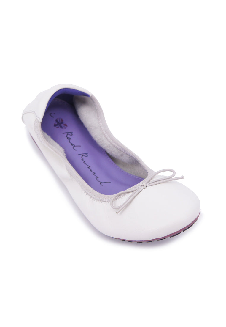 Soft Ribbon Flats - White