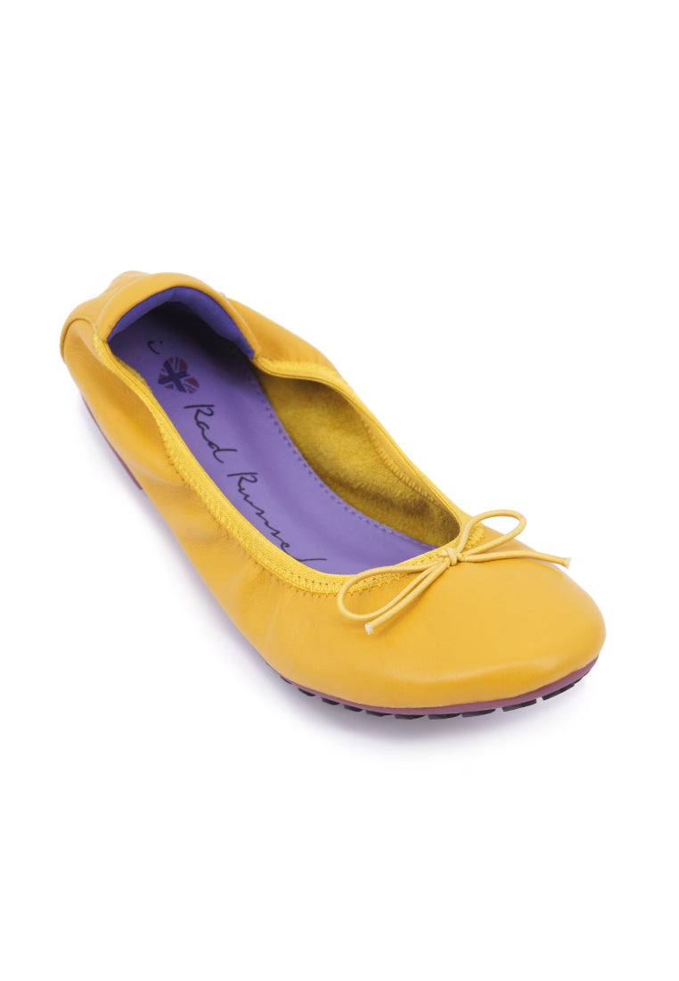 Soft Ribbon Flats - Yellow