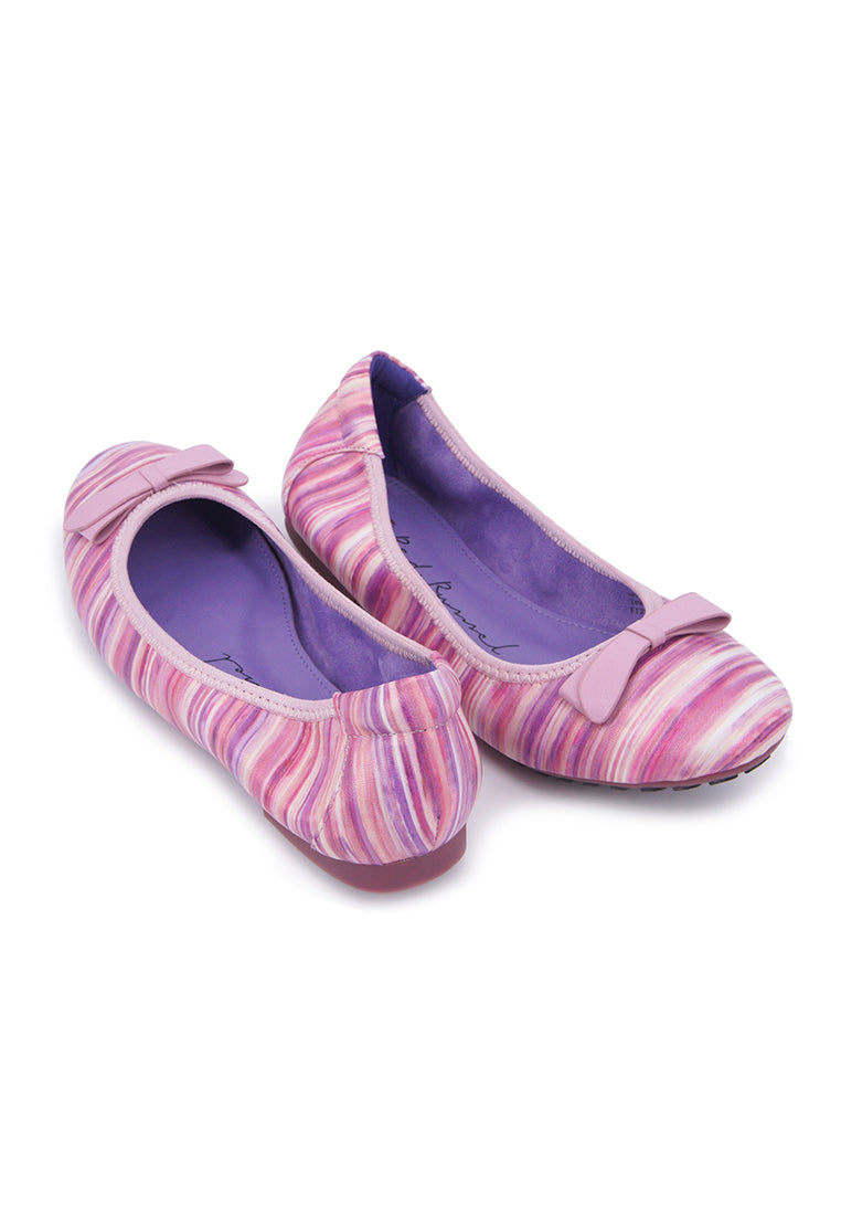 Textured Stripe Flats - Pink