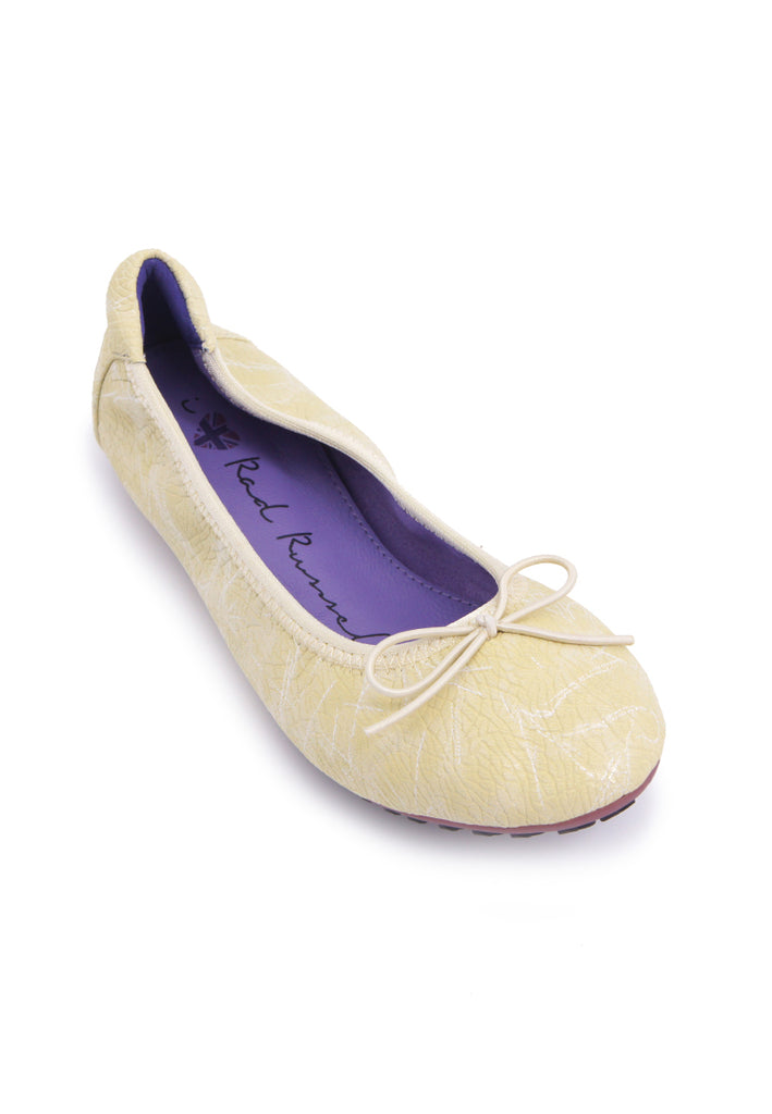 Textured Print Flats - Yellow